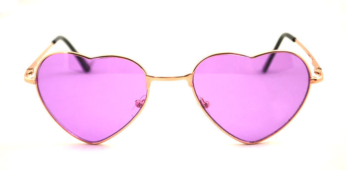 d635e2befbe 2014 new arrival Free Shipping Cute Heart Shaped Golden frame pink lens  Glasses Sunglasses lowest price Heart Shaped sunglasses en Disfraces  fiestas hombre ...