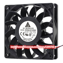 DELTA ventilateur haute vitesse 120*120*25mm 12cm | 2 fils ~, ventilateur Original de 12V 1.24A 12cm FFB1212SH, haute vitesse 3700RPM