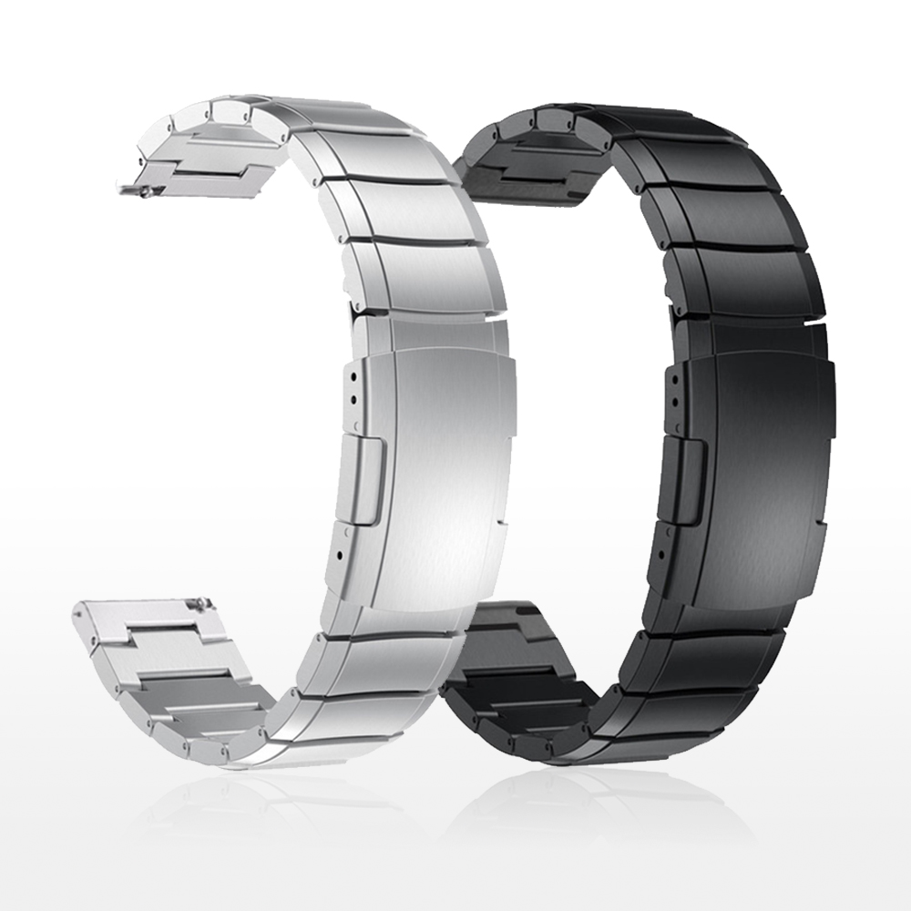 Correa de Metal de acero inoxidable para Samsung Watch Active Gear S3 S2, bandas clásicas para huami, Amazfit, GTR, Bip, huawei GT, 20mm y 22mm