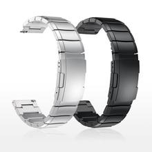 Металлический ремешок из нержавеющей стали 20 мм 22 мм для часов Samsung Active Gear S3 S2, Классические ремешки для huami Amazfit GTR Bip huawei GT Band