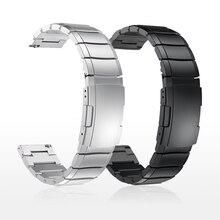 20mm 22mm 금속 스테인레스 스틸 스트랩 삼성 시계 활성 기어 s3 s2 클래식 밴드 huami amazfit gtr bip 화웨이 gt 밴드