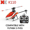 Nuevo xk k110 blash sistema rc helicopter rtf 6ch brushless 3d6g