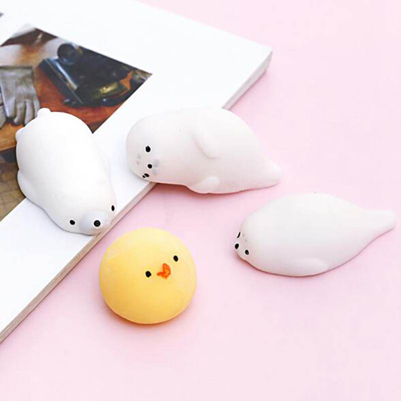 Mini Squishy toy Cute cat antistress ball Abreact Soft Sticky squishi stress relief toys funny gift Squeeze Mochi Rising Toys
