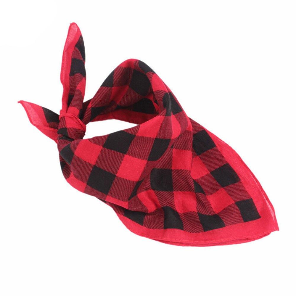 Moda de invierno Mujer Hombre Plaid Bandanas Head Wrap Turbante Accesorios Para el Cabello Diadema accesorios para el cabello bandeau cheveux plaid