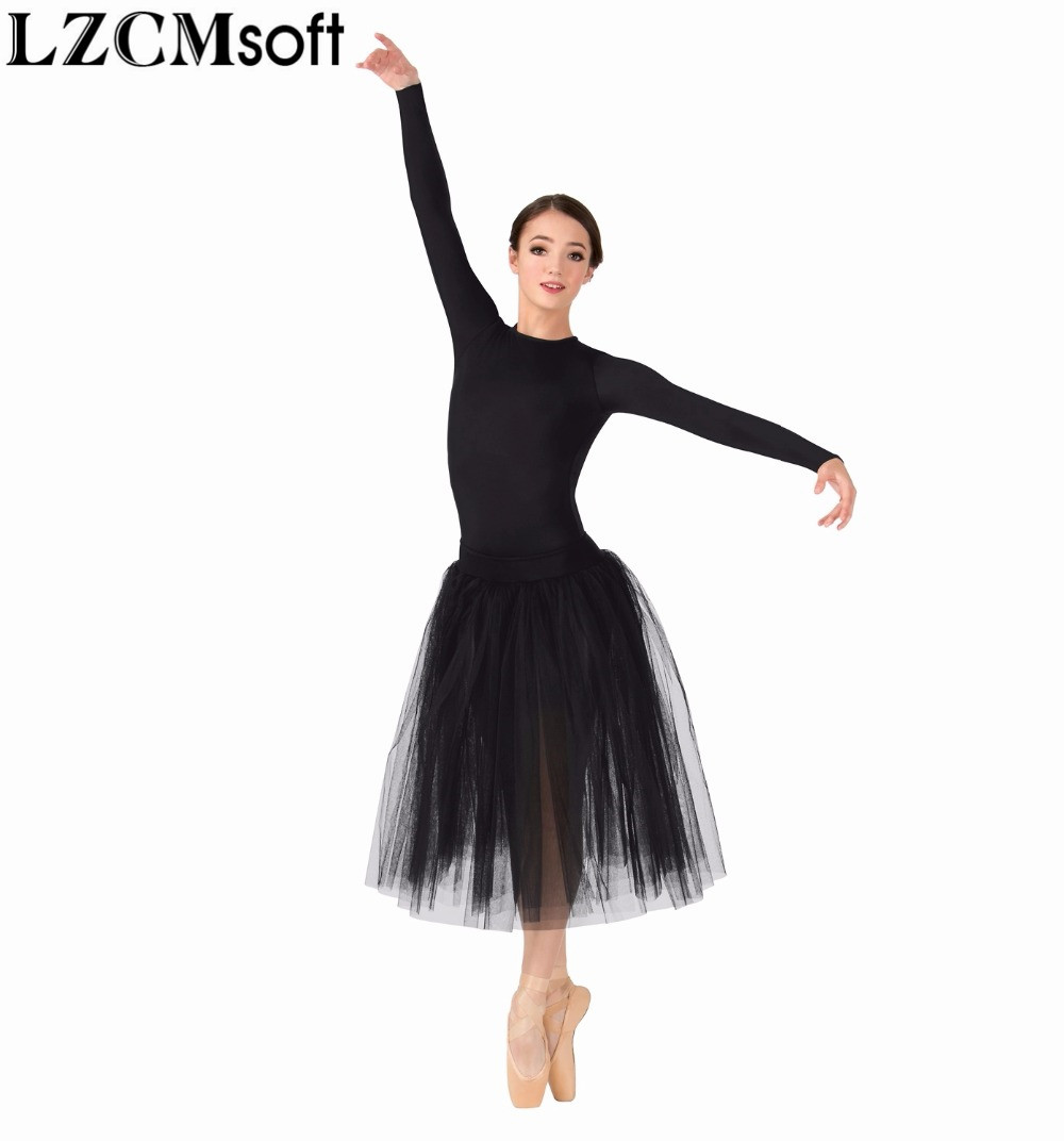 LZCMsoft Womens Snap Crotch Long Sleeve Leotard Girls Spandex Lycra Black Gymnastics Leotards Bodysuit Dance Costumes For Adults
