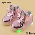 Venta grande lindo led niños shoes con iluminan los niños respiran boy girls luminoso zapatillas chaussure enfant de zapatos brillantes luminosos