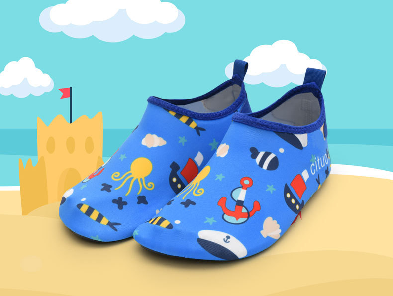 Children Swimming Fins Diving Socks Quick-Drying Inner door Skin Shoes Aqua Shoes Beach Water Sport Shoes Flat Seaside Shoes
