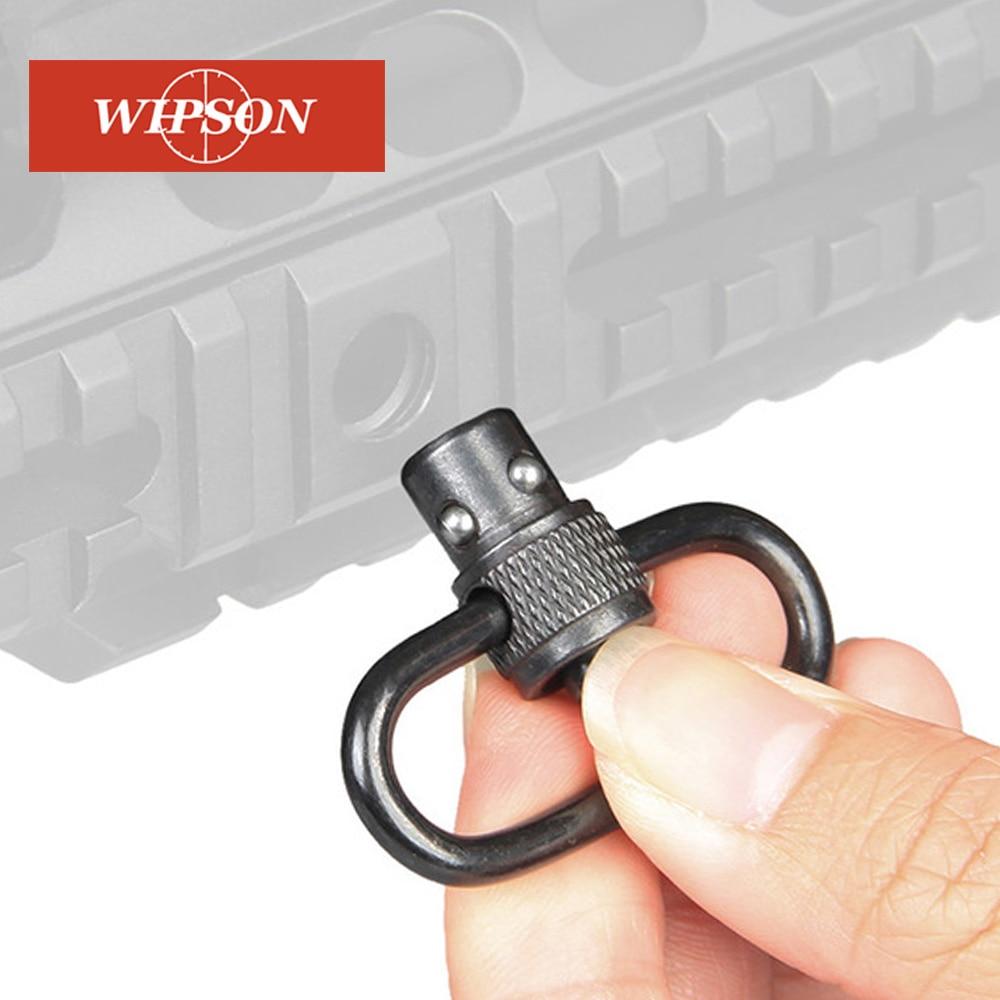 WIPSON Hunting Gun Push Button Quick Release Detachable Sling Swivel Mount Tactical QD Loop Adapter Gun Rifle Shotgun Outdoor To