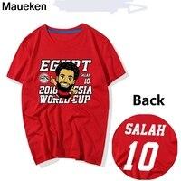 New 2018 Mohamed Salah red black white funny T Shirt 100% cotton t shirts Man o neck tee for Egypt fans gift
