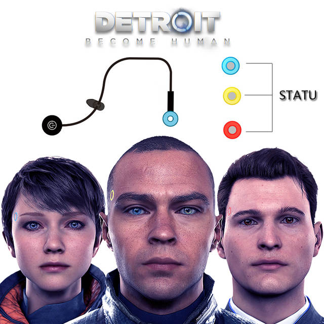 Game Detroit : Become Human Cosplay Connor RK800 Wireless