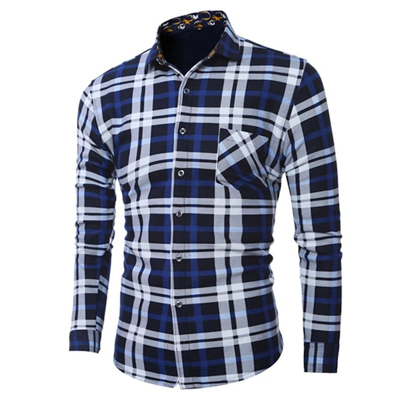 Winter Slim Velvet Shirt Mens Vintage Plaid Dress Shirt Thicken Fleece Lined Warm Mens Long Sleeve Casual Shirts Plus Size 5XL
