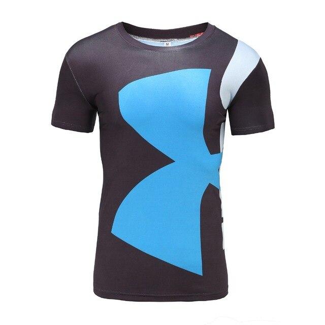 Armour Men Brand Fitness T Shirt Marvel Superhero Male Quick Dry Bodybuilding Crossfit Tops Anime Under 3d Print Tees shirt