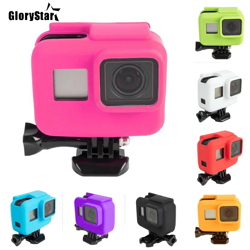 Anti-scratch Silicon Gel Camera Protective Case Cover Shell Housing For Gopro Hero 5 6 Action Camera Go Pro Accessories