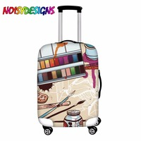 NOISYDESIGNS Artistic Tools Print Travel Luggage Suitcase Protective Cover for Trunk Case Doodles Suitcase Cover Elastic