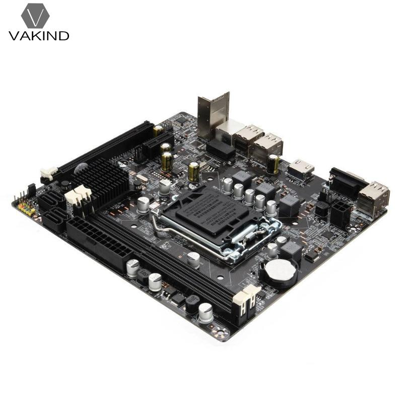 Carte mère Carte Mère 1155 DDR3 PCIE Micro ATX pour Intel H61 Socket LGA Soutien Core i7/i5/i3/Pentiun/Celeron