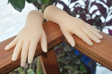 One Pair Realistic Silicone two years little girl Mannequin Dummy Hands For Ring Jewelry Display ,Model Nail Art Hand