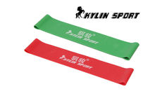 Green and red  combination latex resistance bands workout excercise pilates yoga loop wrist ankle elastic belt