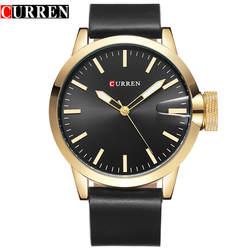 CURREN Для мужчин s часы лучший бренд класса люкс золотистый и Черный Кварцевые часы Для мужчин спортивные наручные часы Водонепроницаемый