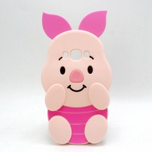 Cartoon Soft Silicone Phone Case For Samsung Galaxy J1 2016 J3 J5 J7 Fundas Pink Piglet Pig Cute Protective Back Cover J710 Capa