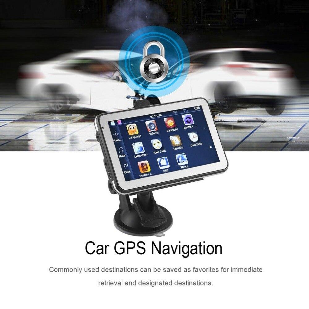 886 560 HD автомобильный Грузовик gps навигации 256 м + 8 ГБ Реверсивный Камера сенсорный FM навигатор точно позиция черный