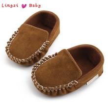 Новорожденных Для маленьких мальчиков девушка обувь первые ходоки детские туфли, мокасины из искусственной кожи Prewalkers для детские кроватки обувь