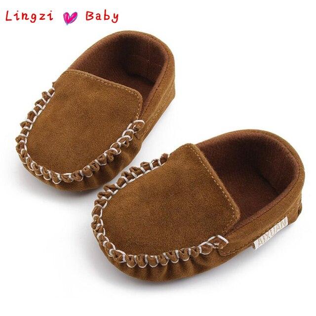 1e867b2b3 Recién Nacido bebé niño Niña Zapatos caminantes primer bebé mocasines  zapatos de cuero de la PU