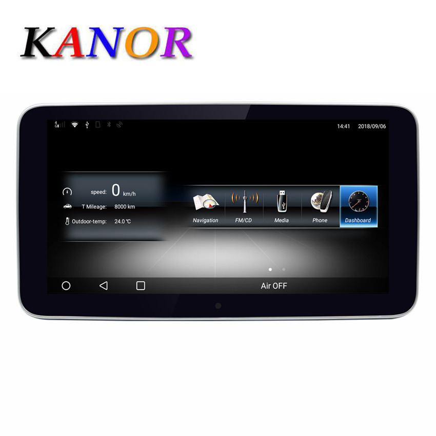 US $485 0 |9 33' Android Touch Screen Multimedia Player Stereo Display  navigation GPS for Mercedes Benz C GLC CLass 2015 2018 W205 V260-in Car