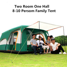 Camel Family C&ing Tent 6 8 10 Person Large Big Double Tent Two Rooms Waterproof Family Tent Picnic  sc 1 st  AliExpress.com & Compare Prices on 10 Room Tent- Online Shopping/Buy Low Price 10 ...