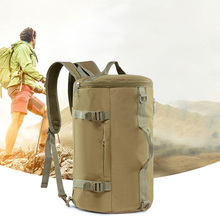 JHD-20L Outdoor Cylinder Backpack Outdoor Sports Camouflage Backpack Camping Handbag Drum