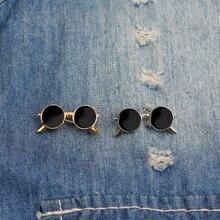 Популярная модная брошь в виде очков, креативная карманная черная КАПЛЕВИДНАЯ Реалистичная Золотая и серебряная брошь на булавке для мужчин и женщин