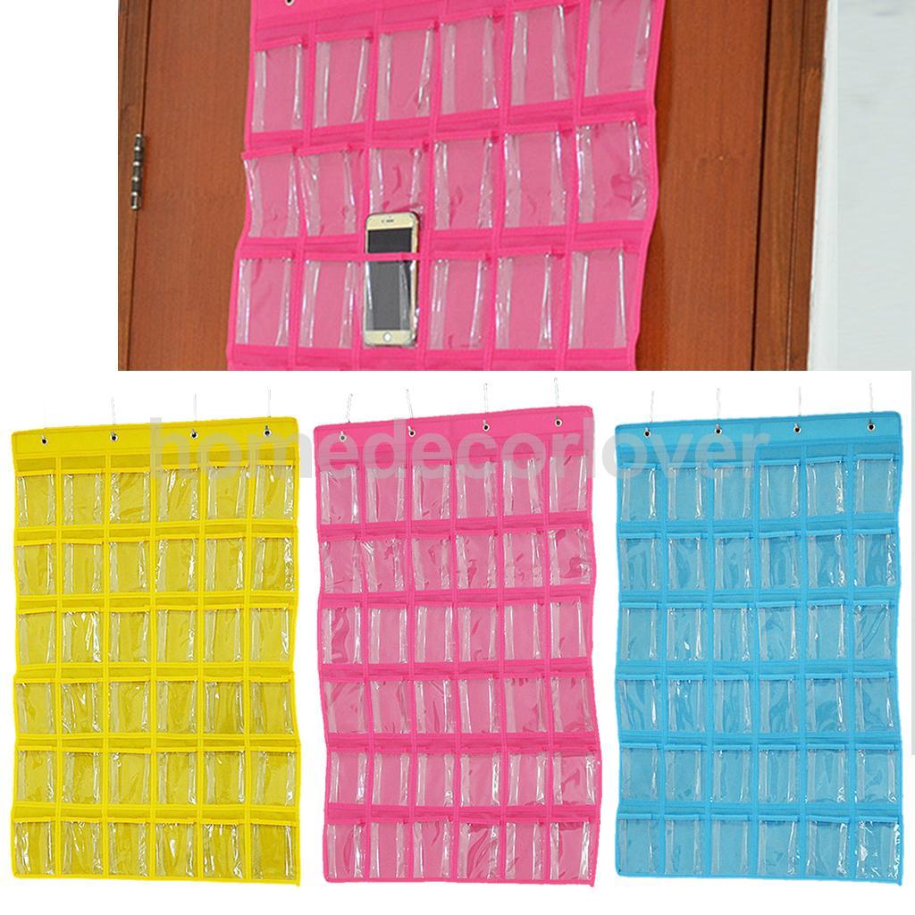 36 Мини Карманы Clear Висячие ювелирные изделия организаторы Closet сумка для хранения 3 цвета