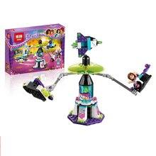 Lepin 01006 Friends Space Ship Amusement Park Minifigures Building Block 100% Compatible with legoe friends