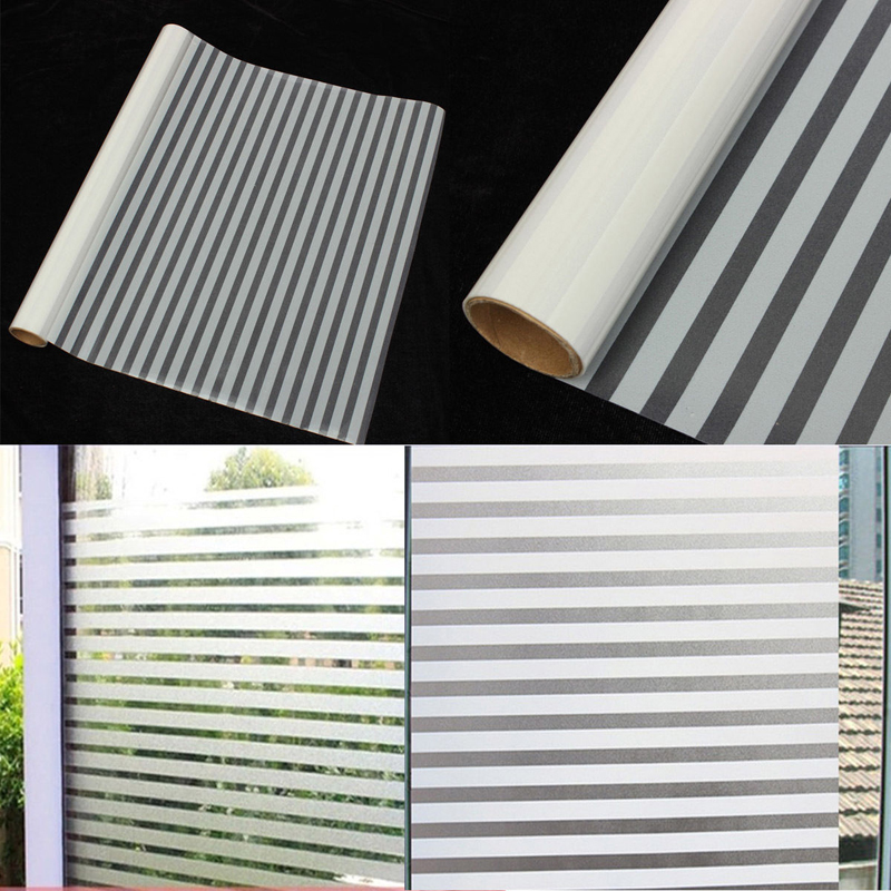 waterproof foggy privacy films bathroom window glass static film pvc stripe sticker for home decoration