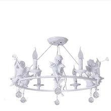 3/6 head modern angel chandelier dining living room lamps lighting warm bedroom