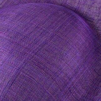 Элегантные шляпки из соломки синамей с вуалеткой хорошее Свадебные шляпы высокого качества черного цвета Клубная кепка очень хорошее 17 цветов MSF099 - Цвет: Фиолетовый