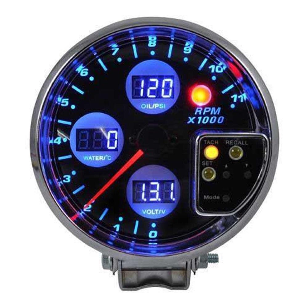 para medir el rendimiento del motor Medir la temperatura del agua Volt/ímetro para autom/óvil medidor de presi/ón de aceite DC9-36V antivibraci/ón