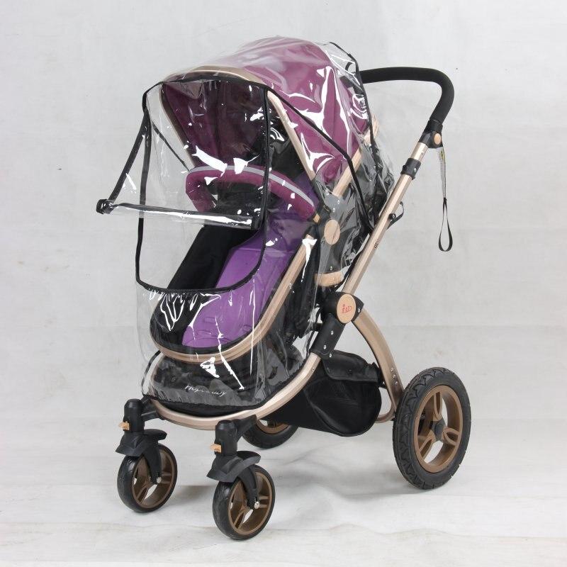 Cochecito de bebé recién nacido con cubierta protectora transparente para mosquitos de insectos cochecito infantil de cuatro ruedas