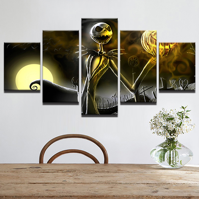 Home Decor Modular Frame Picture Canvas Painting 5 Piece Nightmare
