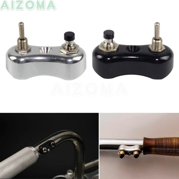 цена на 7/8 & 1 Handlebar Mini Switch Push Button Vintage Motorcycle Switches Toggle Block For Harley Cruisers Bobber Cafe Racer