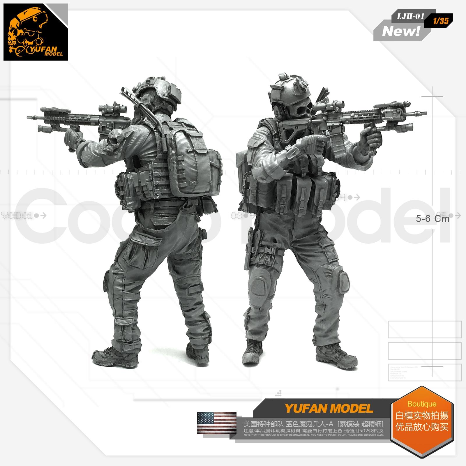 1/35 U.s. Special Forces Troops Blue Devil Soldier Resin Model Ljh - 01