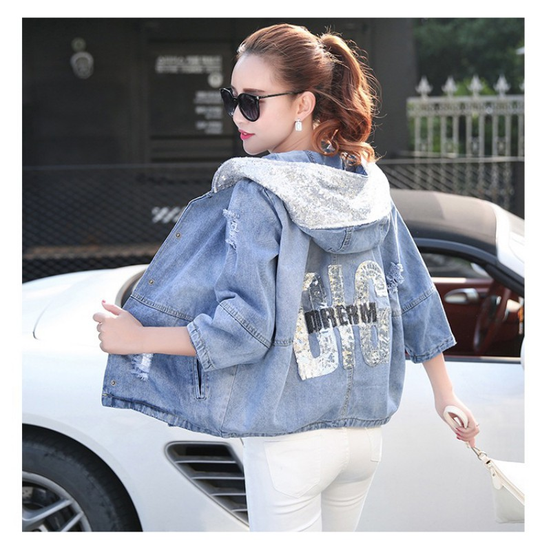 8d7b799071d Summer Autumn Women Denim Jackets Oversized Jeans Jacket Women Loose ...