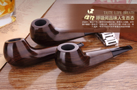20167 Latest Ebony Tobacco Smoking Pipe Durable Classical Cigar Pipe With Rubber Ring Best Deal 1pcs