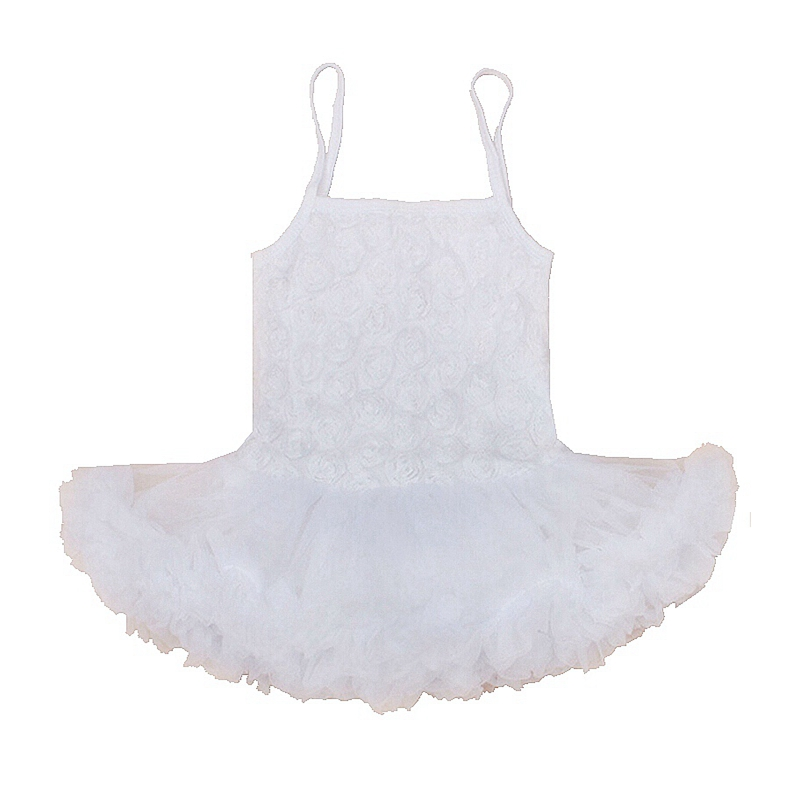 3D Rose Floral White Kids Wedding Dresses Lace Baby Romper Sleeveless Macacao Bebe Newborn Baby Girl Clothes Infant Clothing