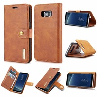 DG MING PU Leather Cover Magnetic With 3 Card Slot Wallet Flip Case For Samsung Galaxy