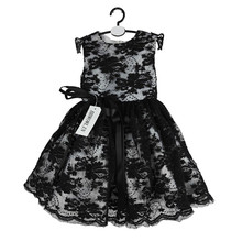 BBWOWLIN Black Lace Baby Girls Ball Gown Christmas Dress for 0 6 Years Infantis Flower Girl
