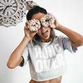 Verão Top Colheita de Outono Letra Impressa de Ressaca Ocasional Cortada T Shirt Da Forma Das Mulheres Partes Superiores Das Meninas Bonitos do Algodão T-Shirt Tee G1120