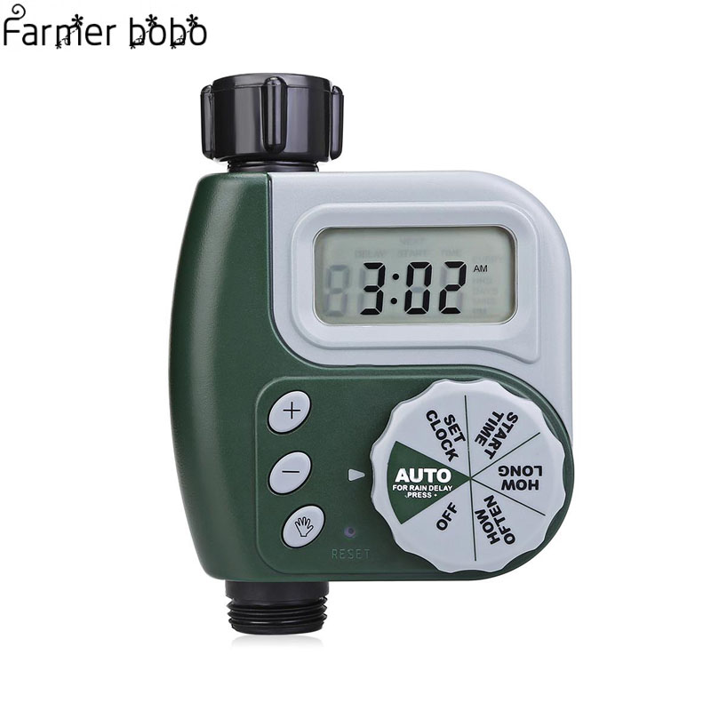 sensor de lluvia Temporizador electr/¨/®nico de agua autom/¨/¢tico temporizador de riego digital para jard/¨/ªn sistema de control de riego para el hogar y el jard/¨/ªn