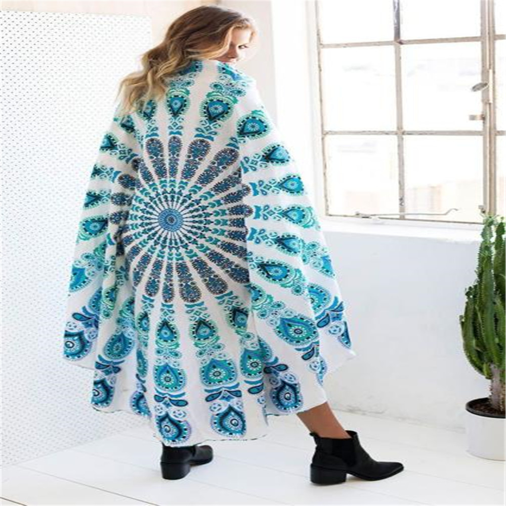 2018 New Home Textiles Polyester Round Beach Pool Home Shower Towel Blanket Table Cloth Yoga Mat