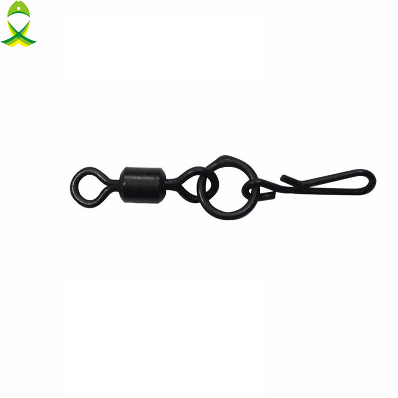 JSM 10 Pcs/lot Carp Fishing Swivel With Quick Change Snap Rigs For Carp Fishing Tackle Accessories
