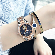 Luxury Brands Carnival Watch Women's Fully-automatic Mechanical Watch Fashion Star dial Waterproof Rose Gold Ladies Watch